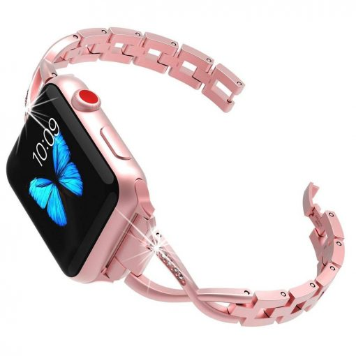 Rose-Gold-X-Bling-Bracelet-Apple-Watch-Band-02